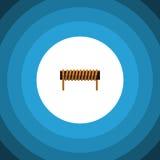 Icône plate d'isolement d'en cuivre de bobine Bobbin Vector Element Can Be a employé pour la bobine, bobine, concept de construct Image stock