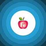 Icône plate d'isolement de Ferrum Apple dirigent l'élément peut être employé pour Ferrum, Apple, concept de construction sain Image stock