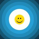 Icône plate d'isolement de sourire Joy Vector Element Can Be a employé pour la joie, sourire, concept de construction de visage Images libres de droits