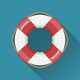 Icône plate de bouée de sauvetage Image libre de droits