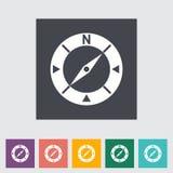 Icône plate de boussole. Images stock