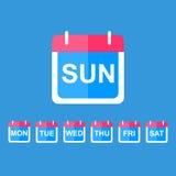 Icône plate de calendrier Image libre de droits