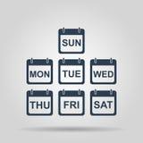 Icône plate de calendrier Images stock