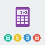 Icône plate de cercle de calcule de vecteur illustration stock