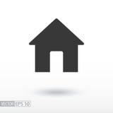 Icône plate de Chambre Chambre de signe Dirigez le logo pour le web design, le mobile et l'infographics Photographie stock libre de droits