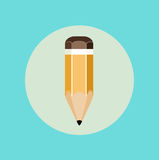 Icône plate de conception d'icône de crayon Image stock
