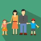 Icône plate de famille Photo libre de droits