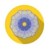 Icône plate de fleur de cosmos avec l'ombre Photo libre de droits