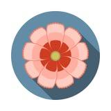 Icône plate de fleur de cosmos avec l'ombre Photographie stock
