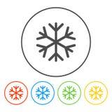 Icône plate de flocon de neige Photographie stock libre de droits