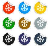 Icône plate de flocon de neige Photos libres de droits