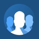 Icône plate de groupe Images libres de droits