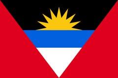 Icône plate de l'Antigua Barbuda de drapeau Image stock