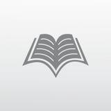 Icône plate de livre Photo stock