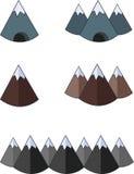 Icône plate de montagnes Image libre de droits