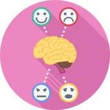 Icône plate de psychologie Image libre de droits