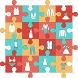 Icône plate de puzzle de forme Images libres de droits