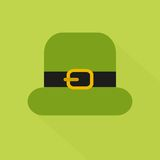 Icône plate de style avec la longue ombre St vert Photographie stock
