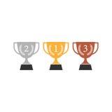 Icône plate de trophée Photos stock