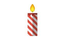 Icône plate de vecteur de bougie de Noël Photo libre de droits