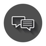 Icône plate de vecteur de bulle de la parole Illustrat de logo de dialogue de discussion Photo libre de droits
