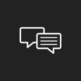 Icône plate de vecteur de bulle de la parole Logo de dialogue de discussion Images libres de droits