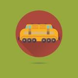 Icône plate de vecteur de conception de locomotive diesel Images stock