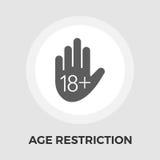 Icône plate de vecteur de restriction d'âge Illustration Libre de Droits