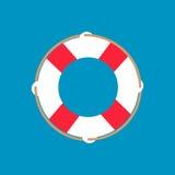 Icône plate de Web de bouée de sauvetage Photos stock