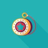 Icône plate de yo-yo avec la longue ombre, ENV 10 Photos libres de droits