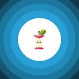 Icône plate mangée L'élément mordu de vecteur peut être employé pour mordu, mangé, concept de construction d'Apple Images libres de droits
