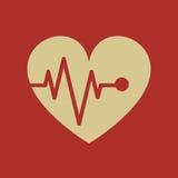 Icône plate médicale Photographie stock