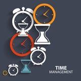 Icône plate moderne de vecteur de gestion du temps pour le Web illustration stock