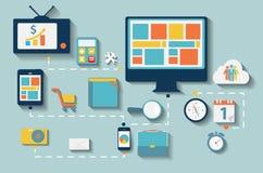 Icône plate moderne réglée pour le Web et le mobile Photo stock