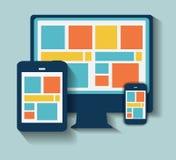 Icône plate moderne réglée pour le Web et le mobile illustration stock