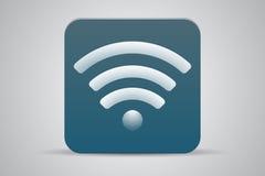 Icône plate verte de Wifi Images stock