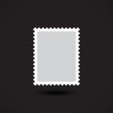Icône plate vide de timbre-poste sur le fond noir Photo stock