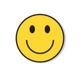 Icône positive de sourire jaune d'émotion de personnes de visage illustration libre de droits