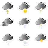 Icône pour des prévisions météorologiques Image libre de droits
