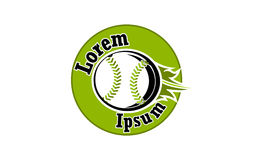 Icône pour le base-ball et les équipes de baseball Images libres de droits