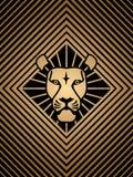 Icône principale de lion Photographie stock libre de droits