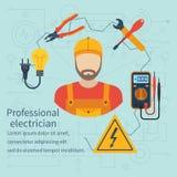 Icône professionnelle d'électricien Photographie stock libre de droits