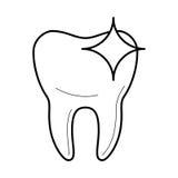 Icône propre saine de dent, illustration de vecteur illustration stock