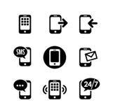 icône 9 réglée - communication Photo libre de droits