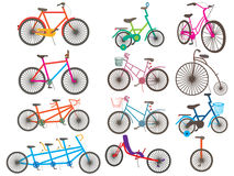 Icône réglée de bicyclette Photo stock