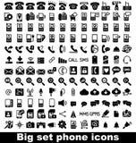 Icône réglée de téléphone Photos stock