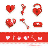 Icône réglée de Valentine photographie stock libre de droits