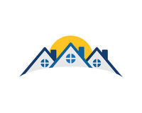 Icône résidentielle d'immobiliers Photos stock