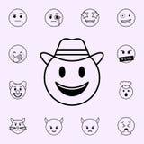 Ic?ne r?v?latrice Ensemble universel d'ic?nes d'Emoji pour le Web et le mobile illustration libre de droits