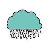 icône rainning de nuage bleu Images libres de droits